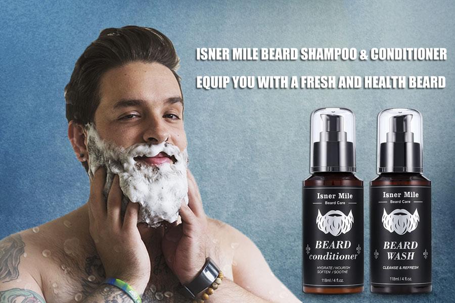 Isner Mile beard wash & conditioner