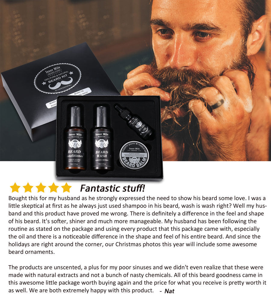Isner Mile Beard Grooming Five-star Praise Kit